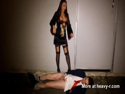Asian Mistress Kicks Man In Balls