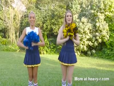Lesbian cheerleaders Fucking Pom Poms