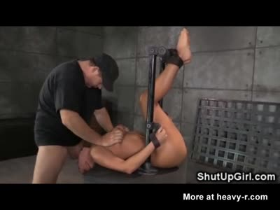 Restrained Babe Brutally Throated