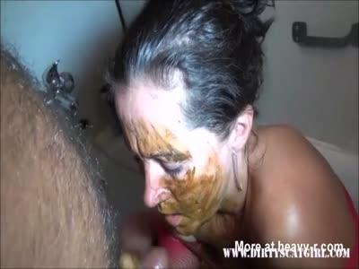 Scat Deepthroat Blowjob