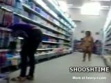 Midget Walking Naked In Supermarket