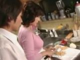 Mom Caught Boy Jerking in Kitchen