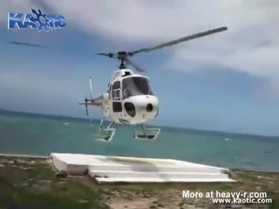 Fiji Helicopter Crash Video