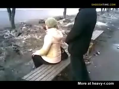 Russian Assholes Pissing On Girl