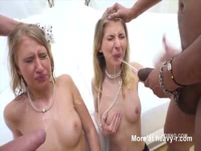 Piss Orgy With 3 Monster Cocks
