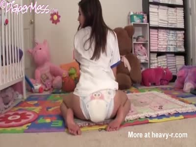 Cute Girl In Diapers