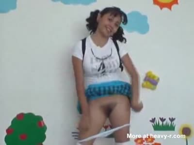 Young Student Flashing Pussy