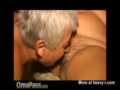 Gramps Eating Grannys pussy