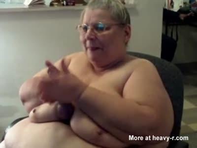 Huge Old MILF Playing On Webcam