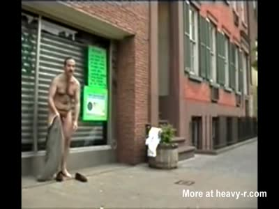 DAVID CHERIANO-PUBLIC NUDE PERVERT 3-NUDE BUSY STREET DAY!