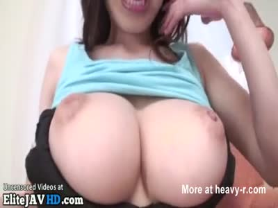 Huge boobs hairy Japanese gets shaved
