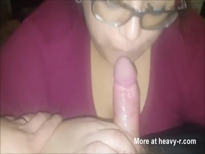 Horny Plump Teen In Glasses Giving Skillful BJ