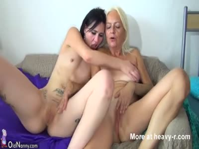 Granny And Teen Enjoying Hardcore Sex