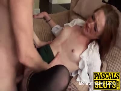 Redhead Slut Deepthroats Before Hard Fucking