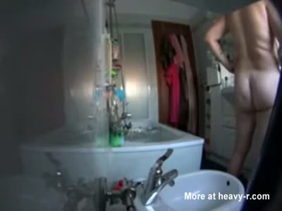 Chubby Mom In Shower