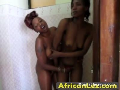 Fingering Ebony Pussies In Shower