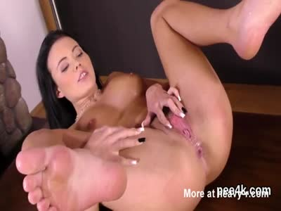 Dark Haired Girl Pissing And Fingering
