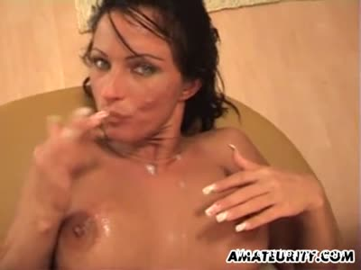 Cumshot On Big Milf Boobs