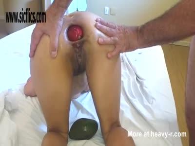 Stuffing Mango In Ass