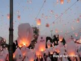 Releasing record amount of lanterns in Romania