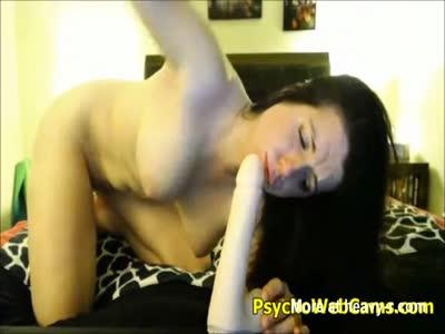 Naughty Busty Babe Self Fucking Dildo