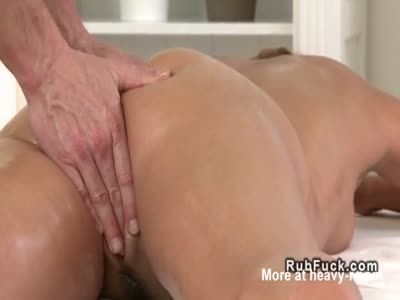 Masseur Bangs Nice Ass Blonde