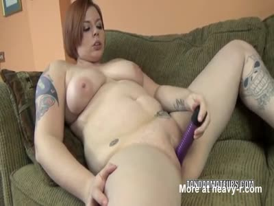 Busty Girl Using Dildo