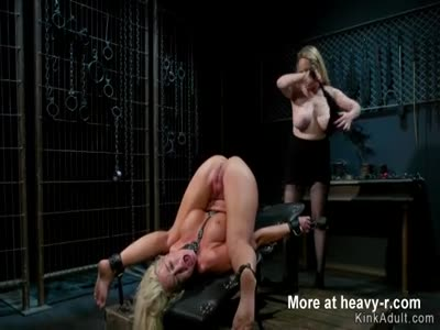 Huge tits blonde doggy anal banged
