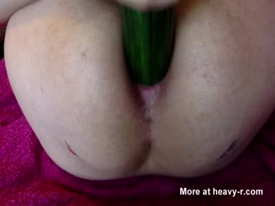 Bizarre Insertion - Young Gay Uses Cucumber and Vegetables