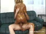 Scat Smeared Cowgirl Fuck