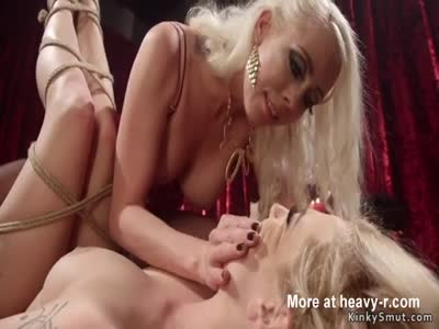 Gagged Blonde Ass Whipped And Hot Waxed