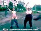 Drunk russian girls taking clothes off