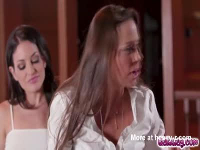 Abigail Mac and Kissa Sins hot pussy tribbing