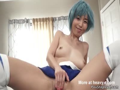 Asian Teen Makes Stepdad Fuck Her In POV