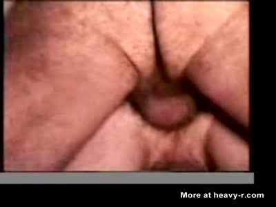 Closeup of Gay Bareback Anal Sex