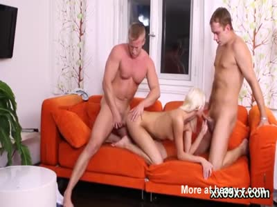 Blonde Girl Tag Teamed By Friends