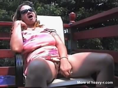Squirting On Balcony