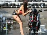 Bikini Bike Wash Fail
