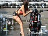 Bikini Bike Wash Fail
