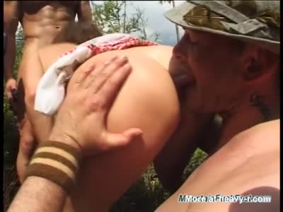 Forced Outdoors Threesome