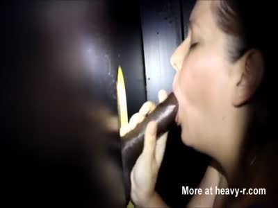 Sucking Black Cock In Glory Hole