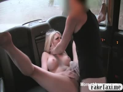 Blonde Slut Fucks Taxi Driver