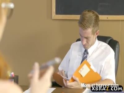 Dumb schoolgirl huge cock anal pounding from the teacher