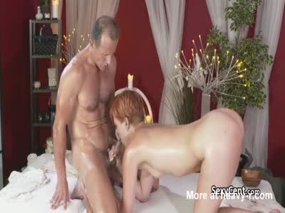 Redhead Milf Massaged And Fucked