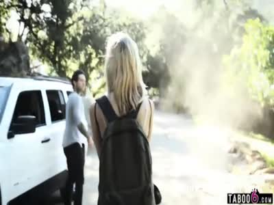 Artists pick up teen hitchhiker and fuck her together