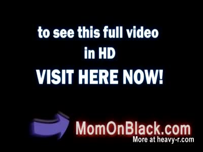 Only black guys can satisfy this busty brunette mom