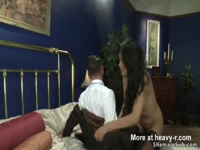 Shemale fucks ex bf in sixtynine in bed