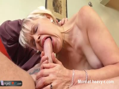 Granny Swallowing Young Cock