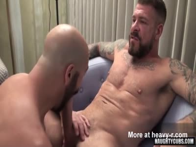 Huge dick gay oral sex with cumshot