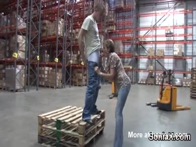 Blowjob In Warehouse